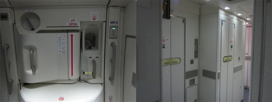 Cabin of Airbus A380 of Emirates