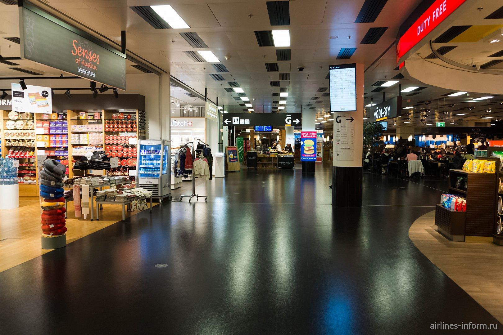 Магазины в терминале 3 аэропорта Вена Швехат