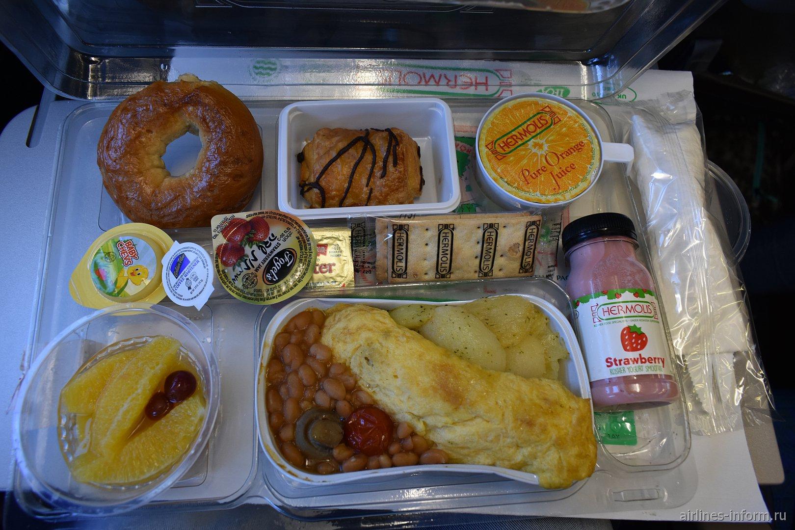 Кошерное питание на рейсе Cathay Pacific Бангкок-Гонконг