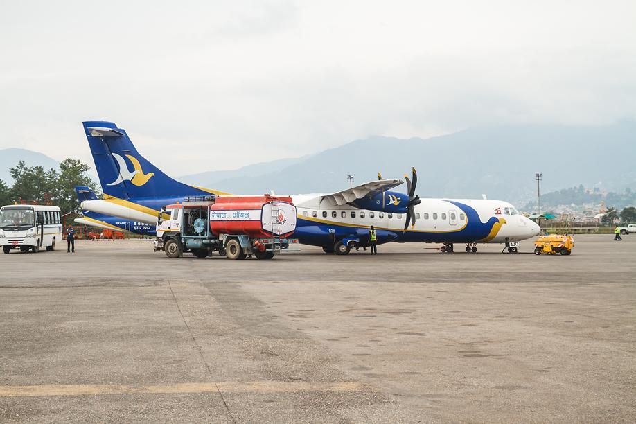 ATR 72 Buddha Air в аэропорту Катманду