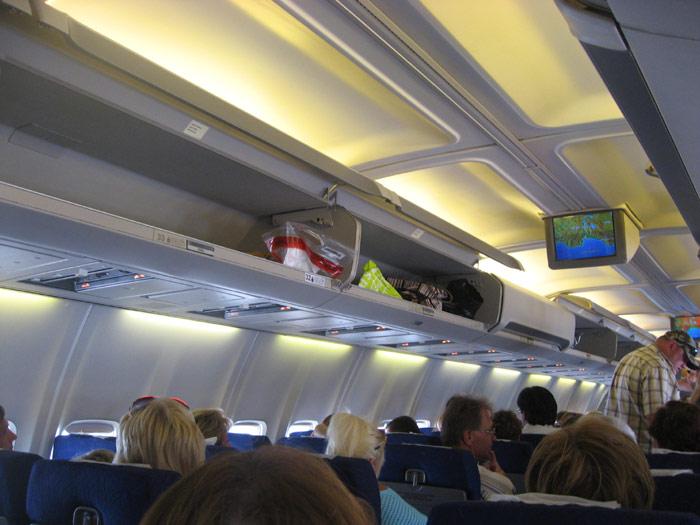В салоне Боинга-757 авиакомпании ВИМ-авиа