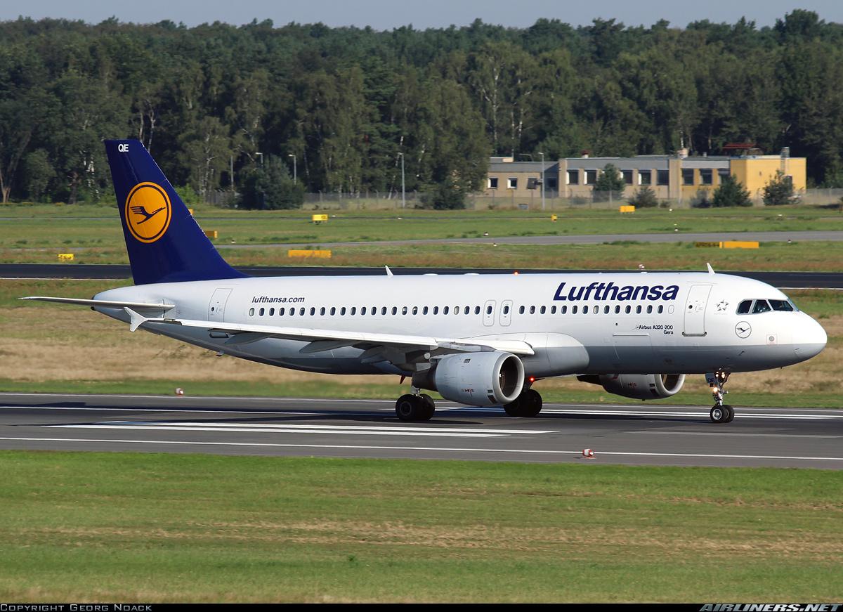 Самолет Airbus A320 авиакомпании Lufthansa