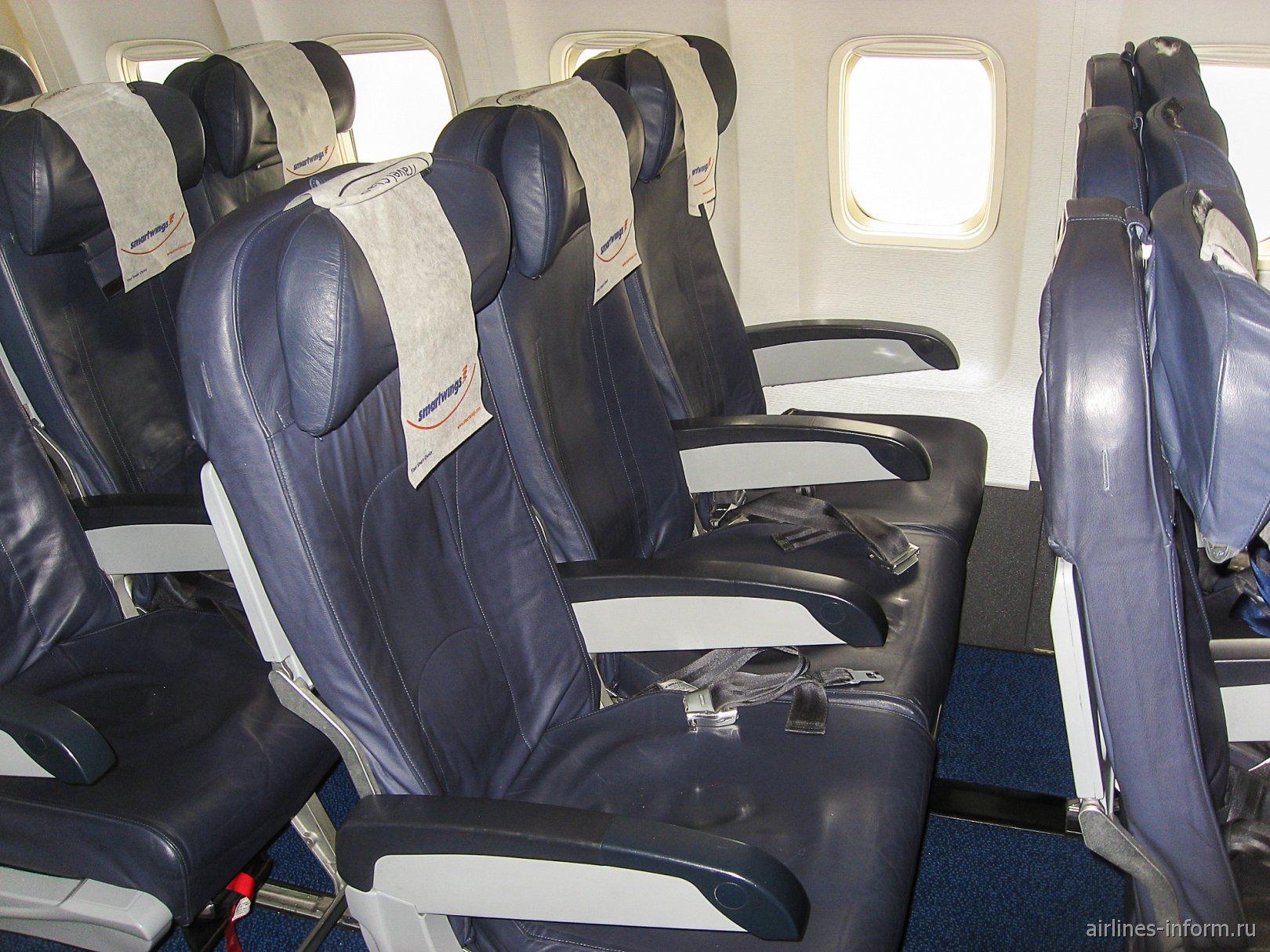 Пассажирские кресла в Боинге-737-800 авиакомпании Smartwings