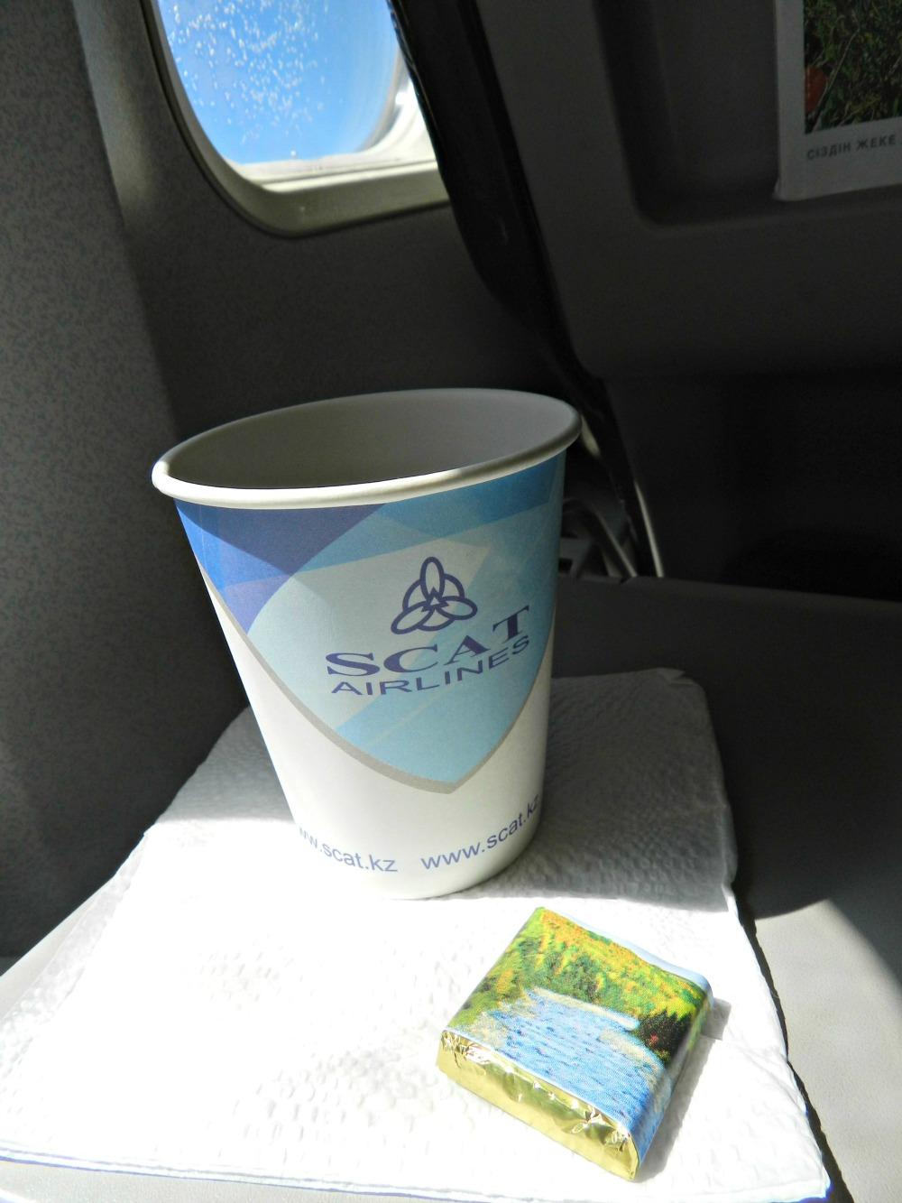 Питание на чартерном рейсе Астана-Анталья авиакомпании СКАТ