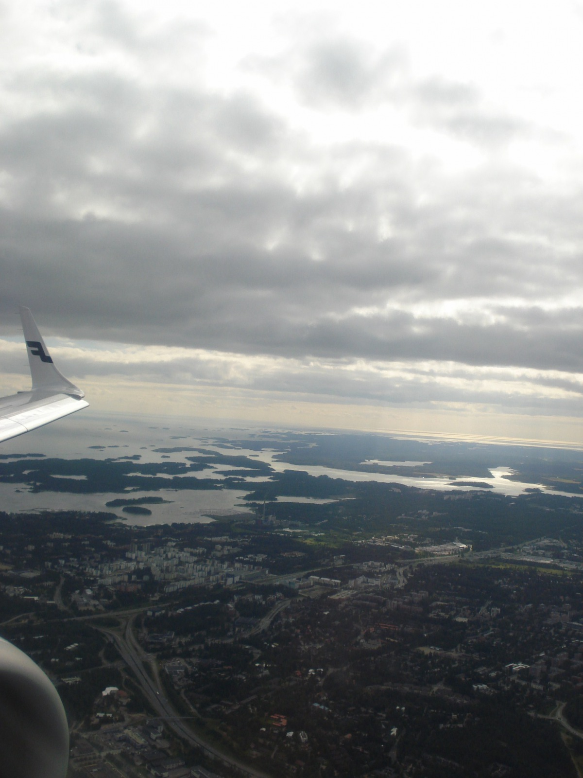 Descending over Helsinki