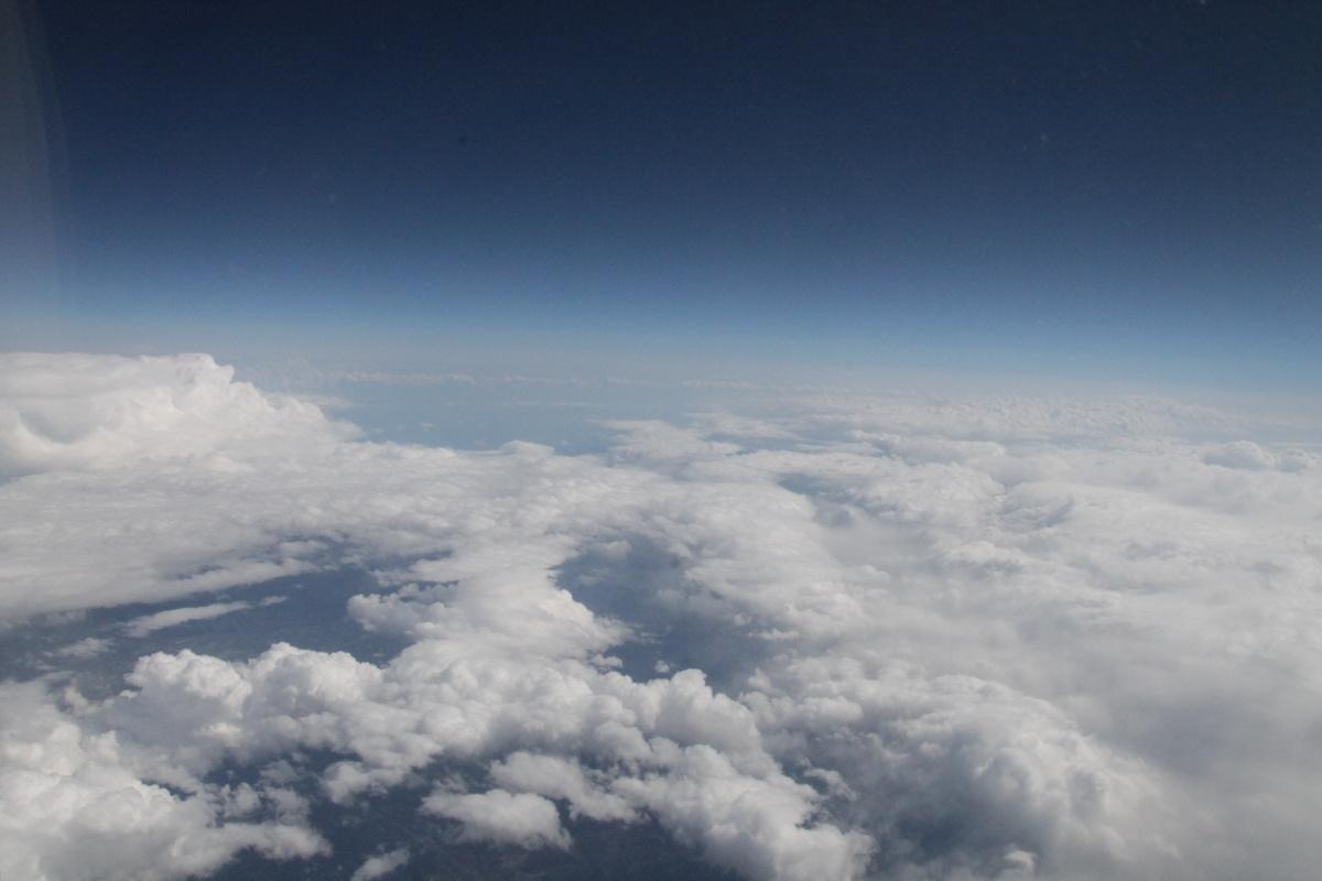 Облака над Японией