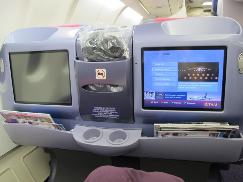 В бизнес-классе Тайских авиалиний