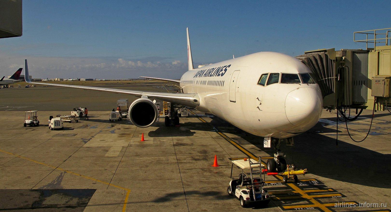 Боинг-767-300 Японских авиалиний в аэропорту Гонолулу