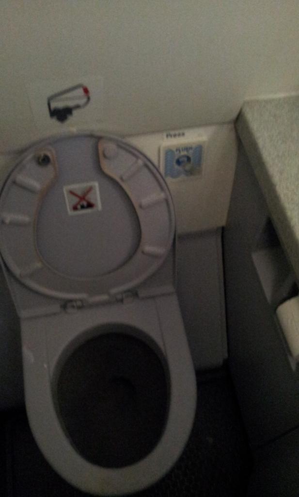 Туалет самолета Airbus A319 авиакомпании Avion Express