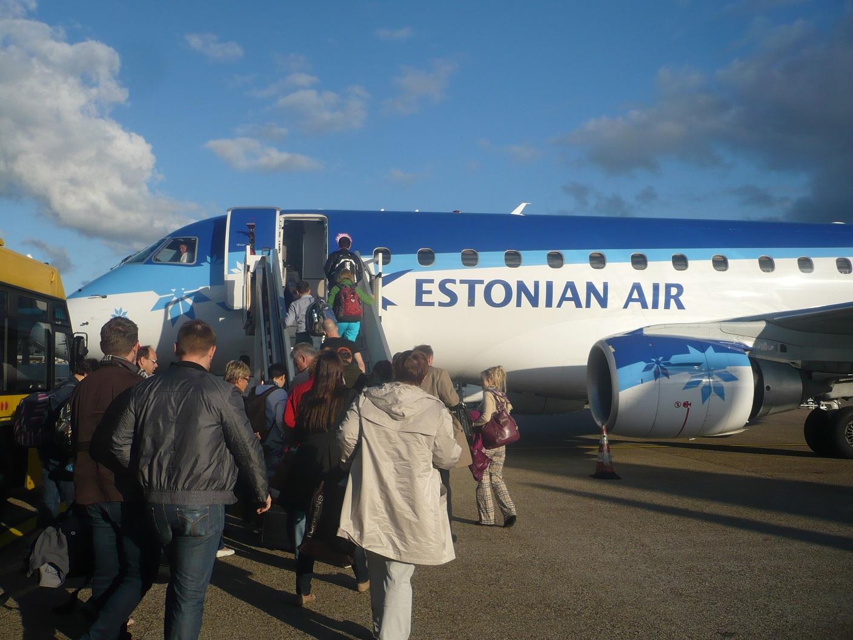 Посадка на рейс Эстонских авиалиний