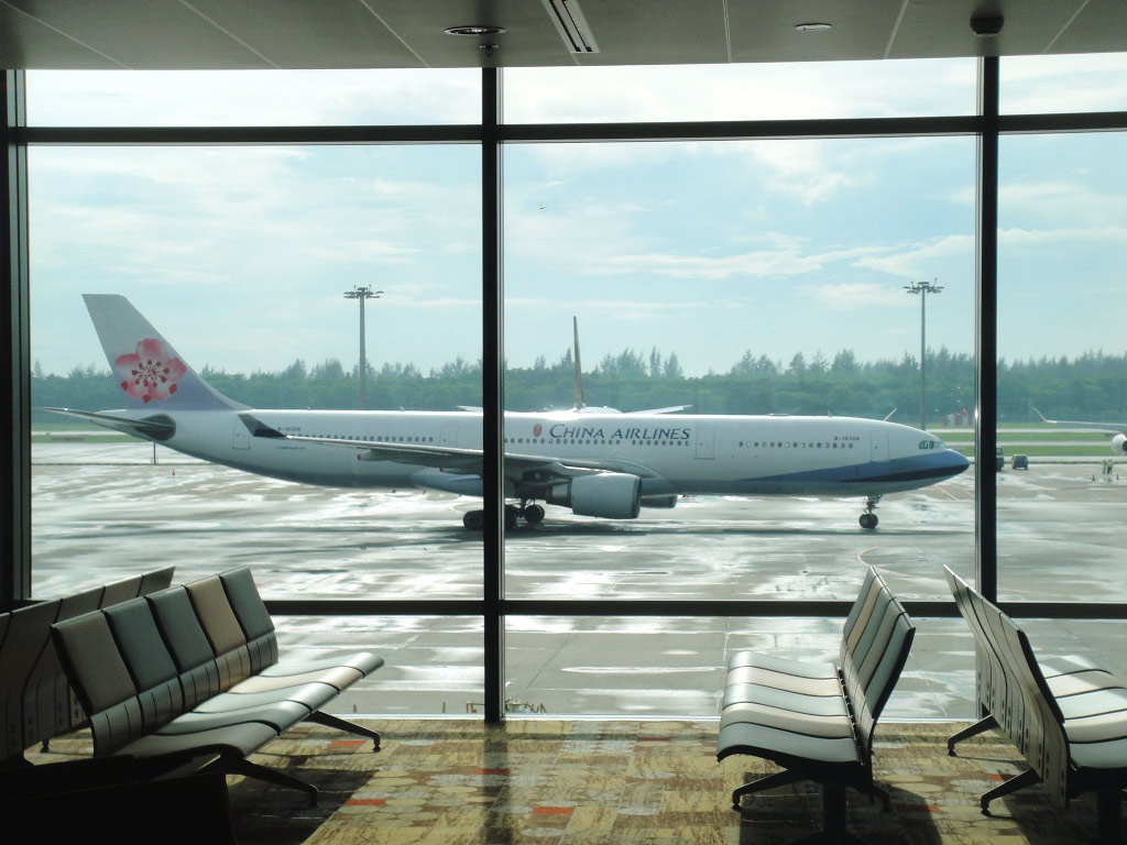 Airbus A330 of China Airlines in Singapore airport