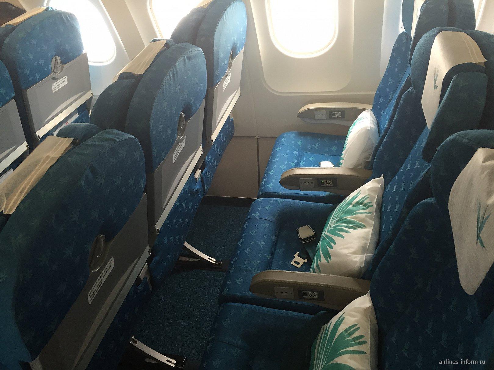 Эконом-класс в самолете Airbus A319 авиакомпании Air Mauritius