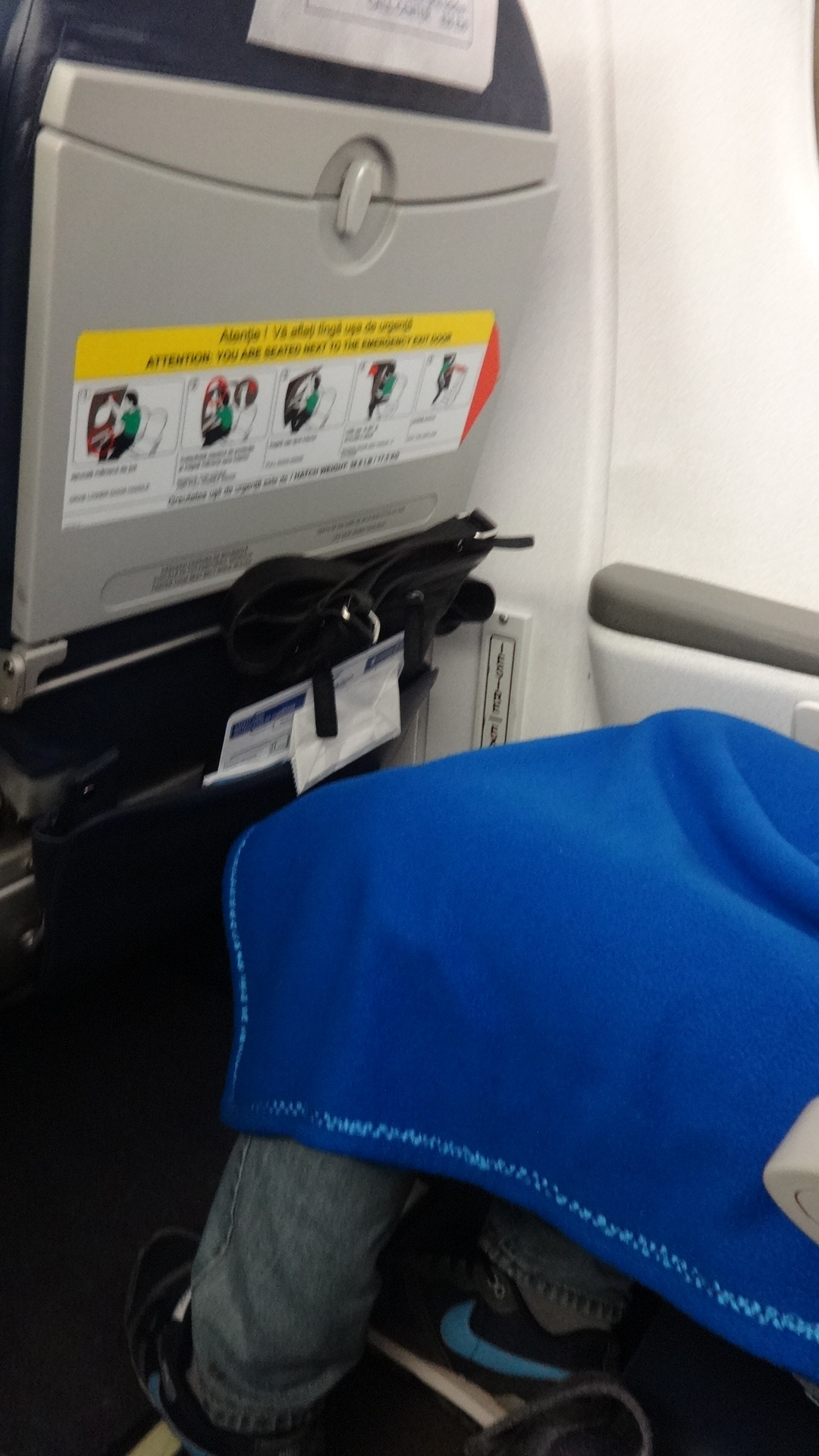 Туалет самолета Embraer 190 авиакомпании Air Moldova