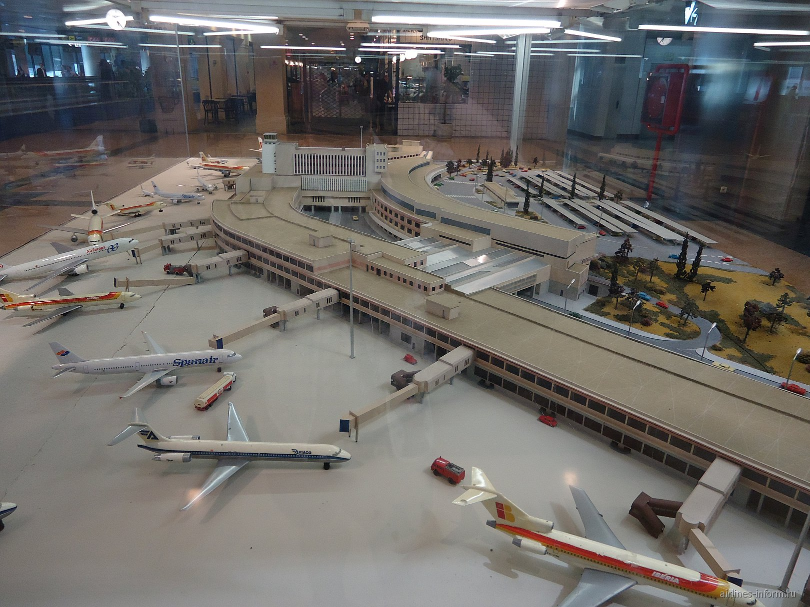 Макет аэропорта Мадрид Барахас