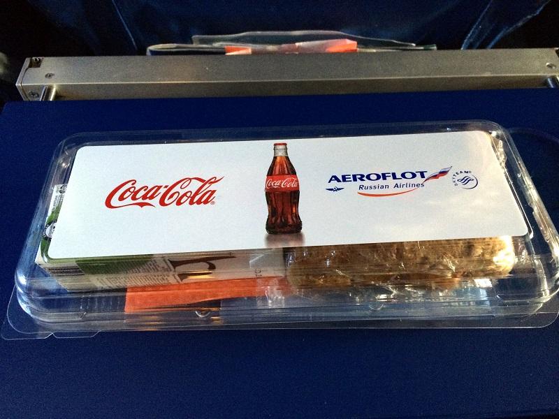 Кошерное питание на рейсе Аэрофлота Москва-Санкт-Петербург