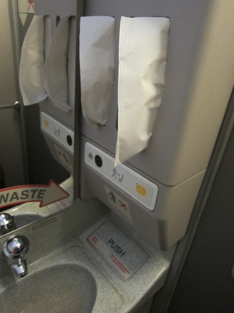 Туалет самолета Airbus A321 авиакомпании Люфтганза