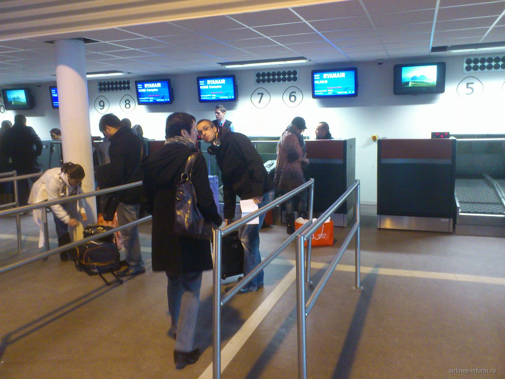 Регистрация на рейс Ryanair в аэропорту Париж Бове
