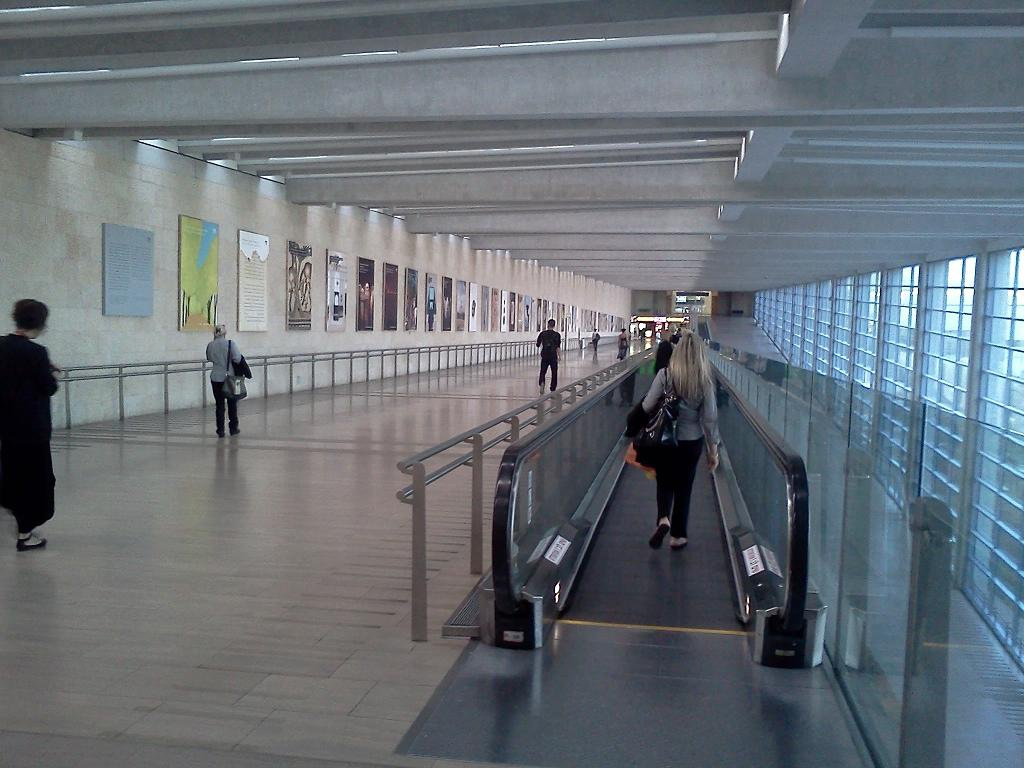 At the Tel Aviv Ben Gurion airport