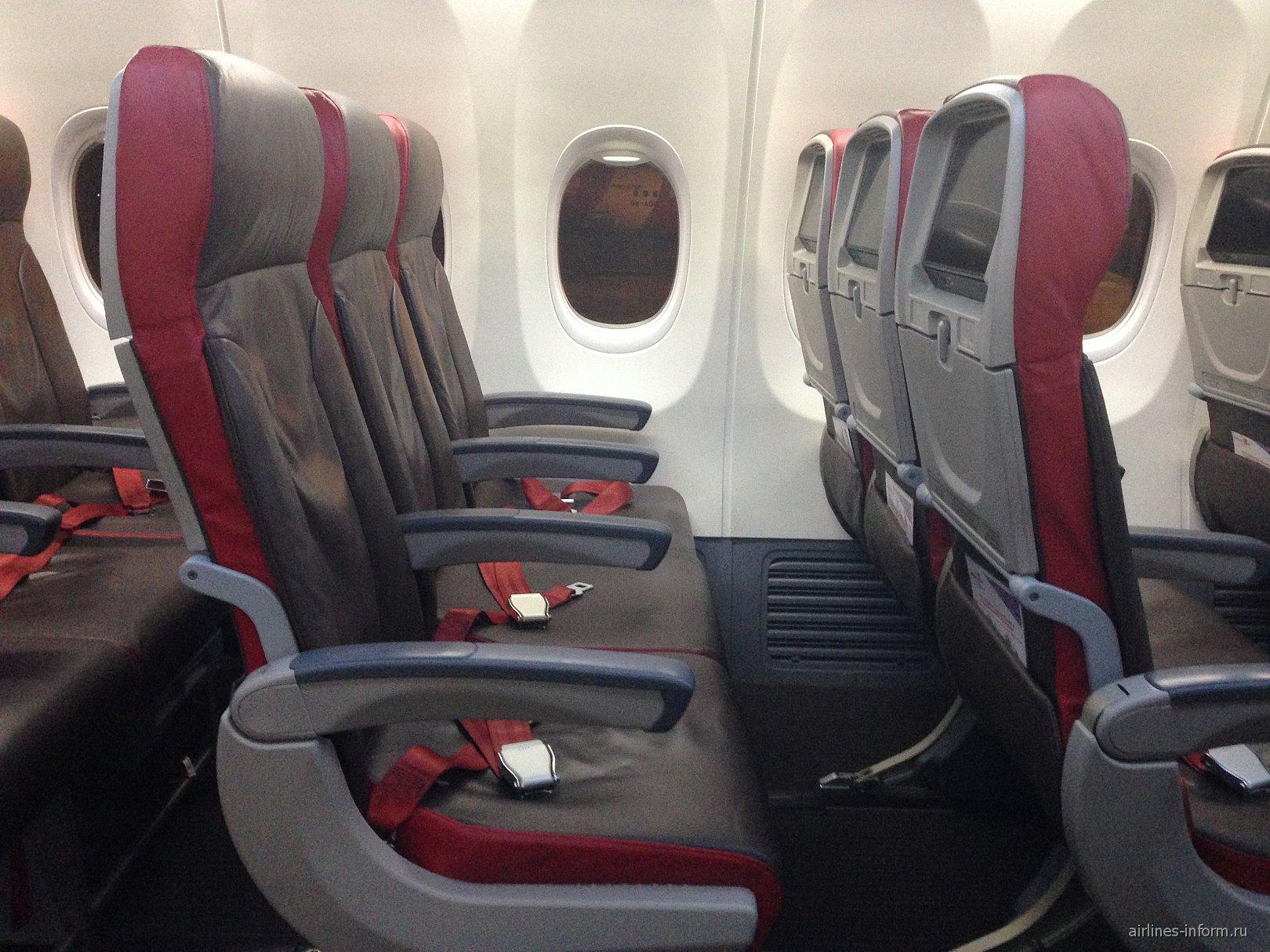 Кресла экономического класса в Боинге-737-900 авиакомпании Malindo Air