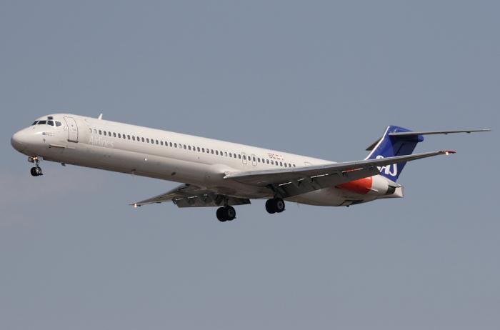 Авиалайнер MD-82 авиакомпании SAS
