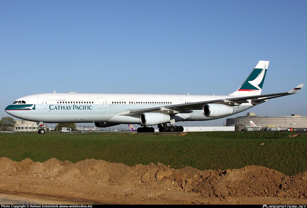 Airbus A340-300 авиакомпании Cathay Pacific