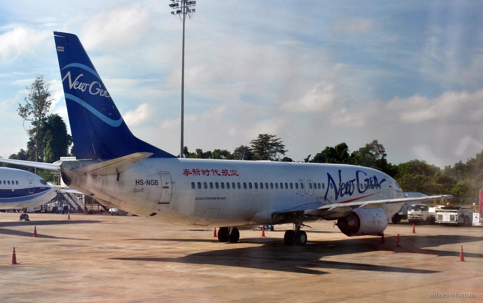 Боинг-737-400 авиакомпании NewGen Airways в аэропорту Краби