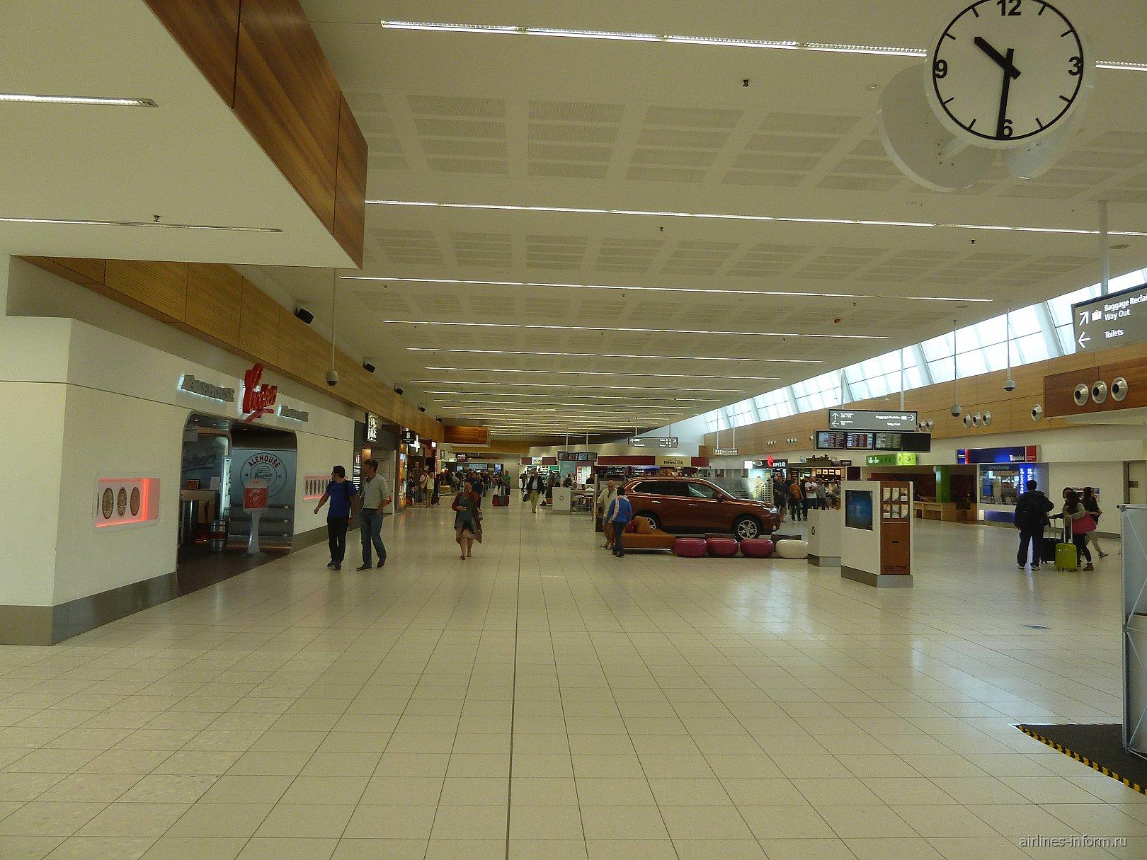Чистая зона в аэропорту Аделаида