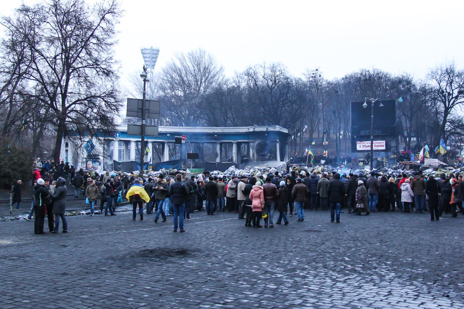 Обгорелый вход на стадион Динамо