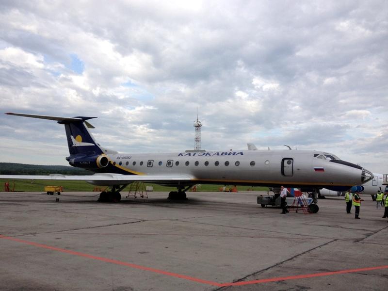 Ту-134 Катэкавиа в аэропорту Емельяново
