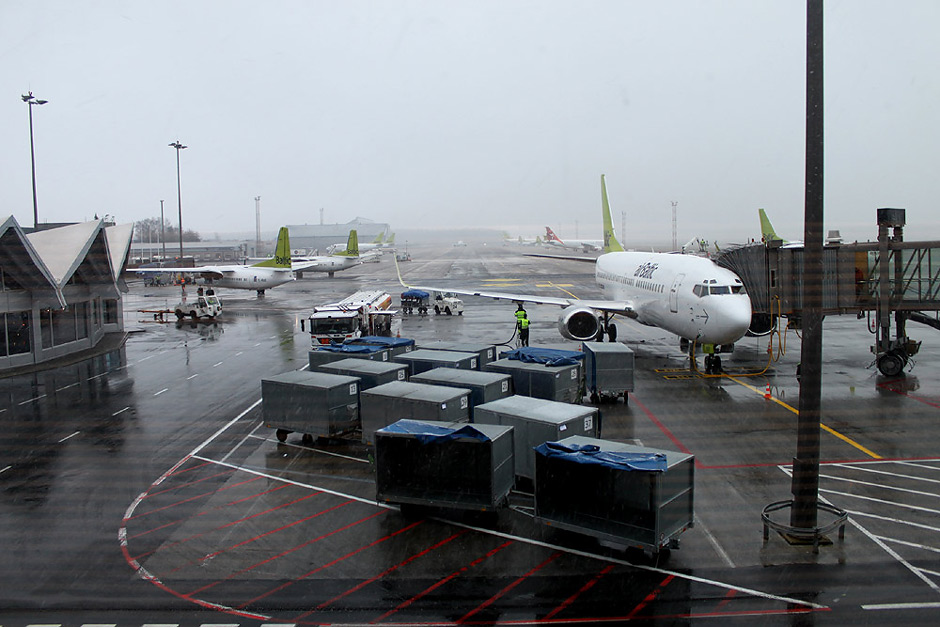 Fleet of airBaltic in Riga International Airport