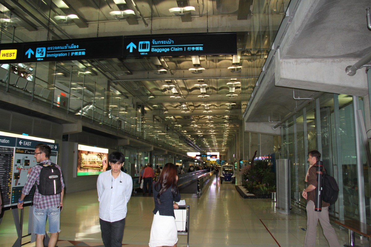 At the Bangkok Suvarnabhumi Airport
