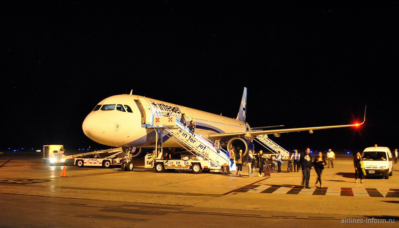 Podemos Soprenderte. Мехико Хуарес (MEX/T1) - Канкун (CUN/T2) Interjet 4O2322 на Airbus A321SL