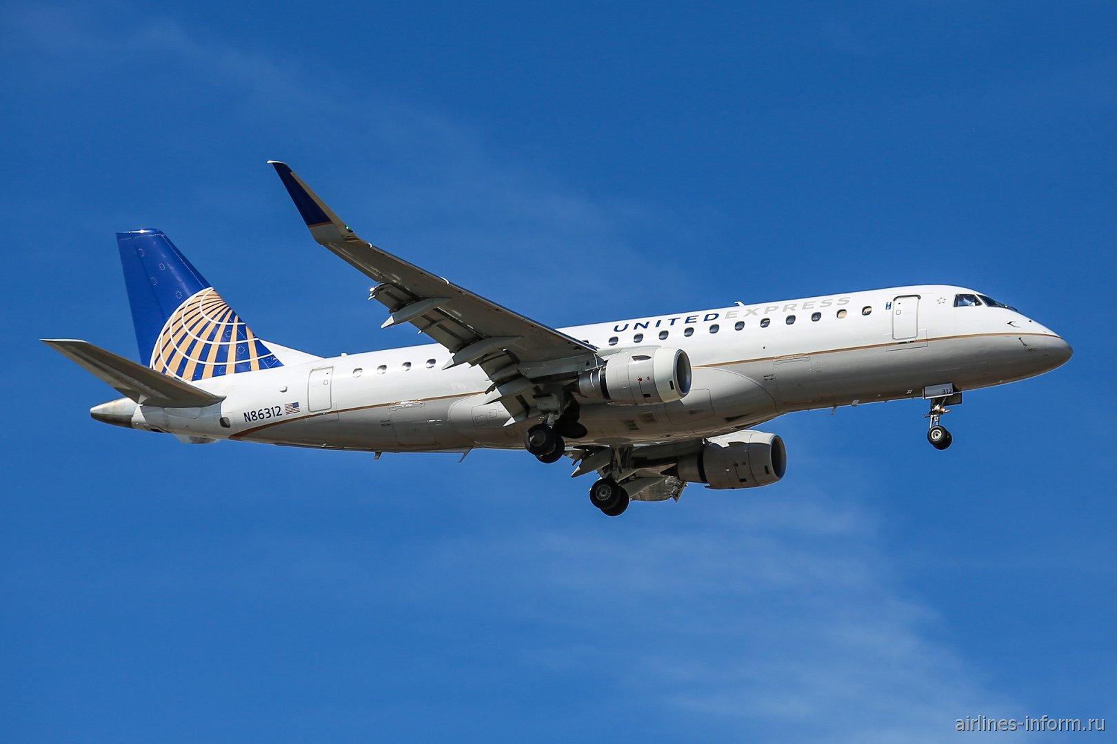 Embraer 175LR номер N86312 авиакомпании Mesa Airlines