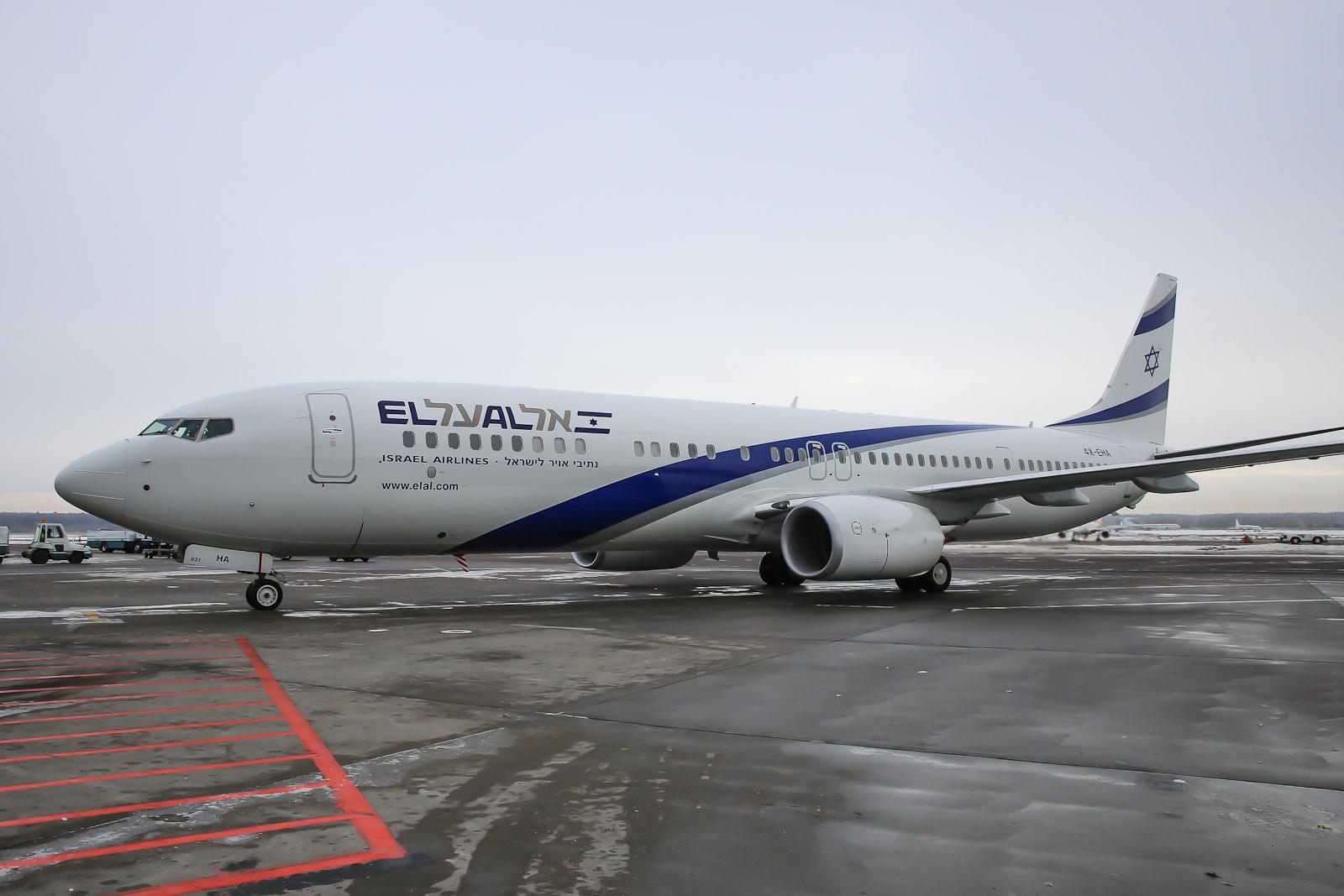 Боинг-737-900 авиакомпании El Al в аэропорту Домодедово