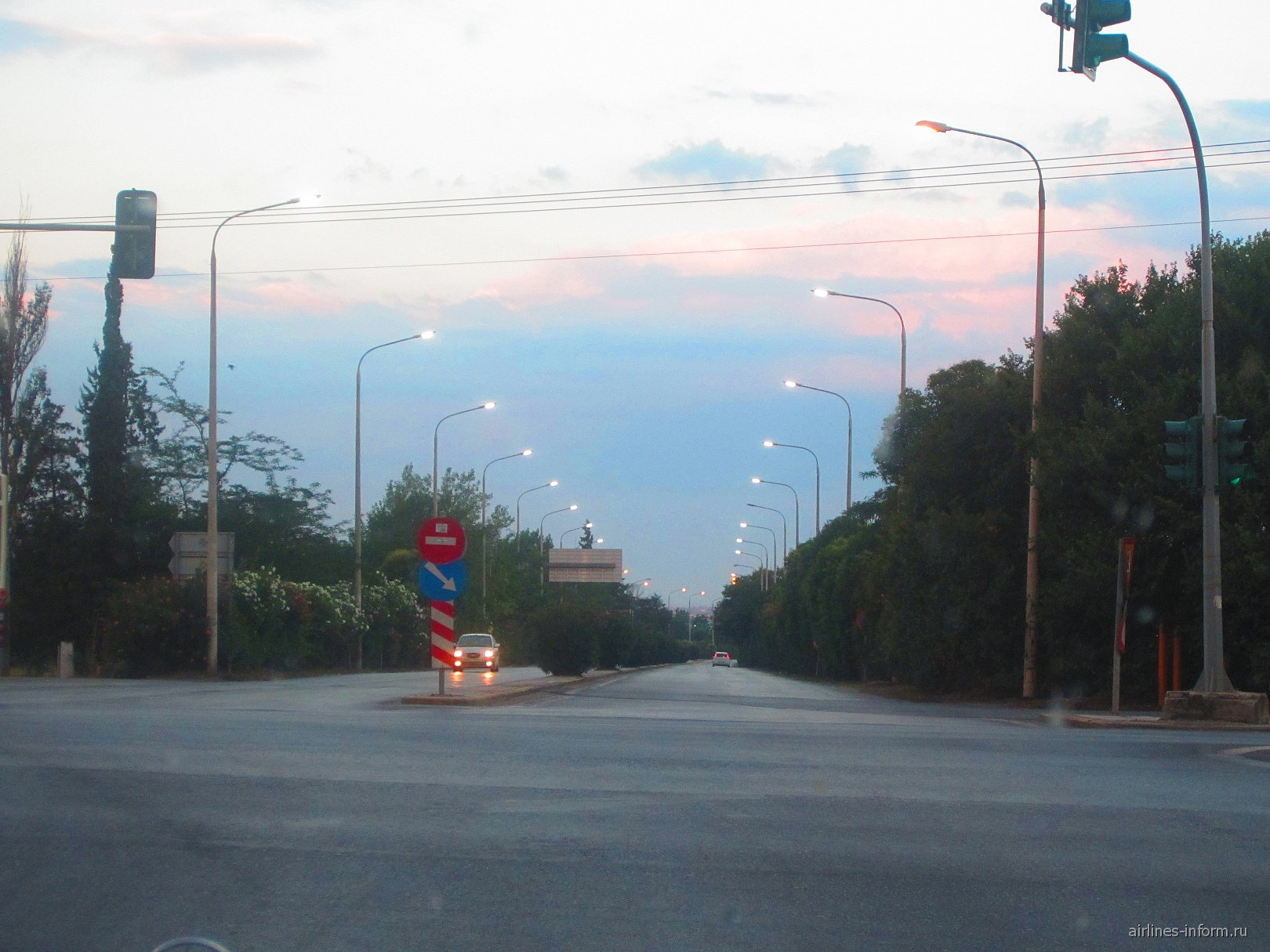 Дорога в аэропорт Салоники