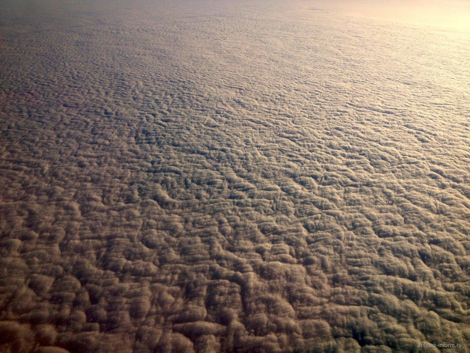 Вечерние облака над Европой