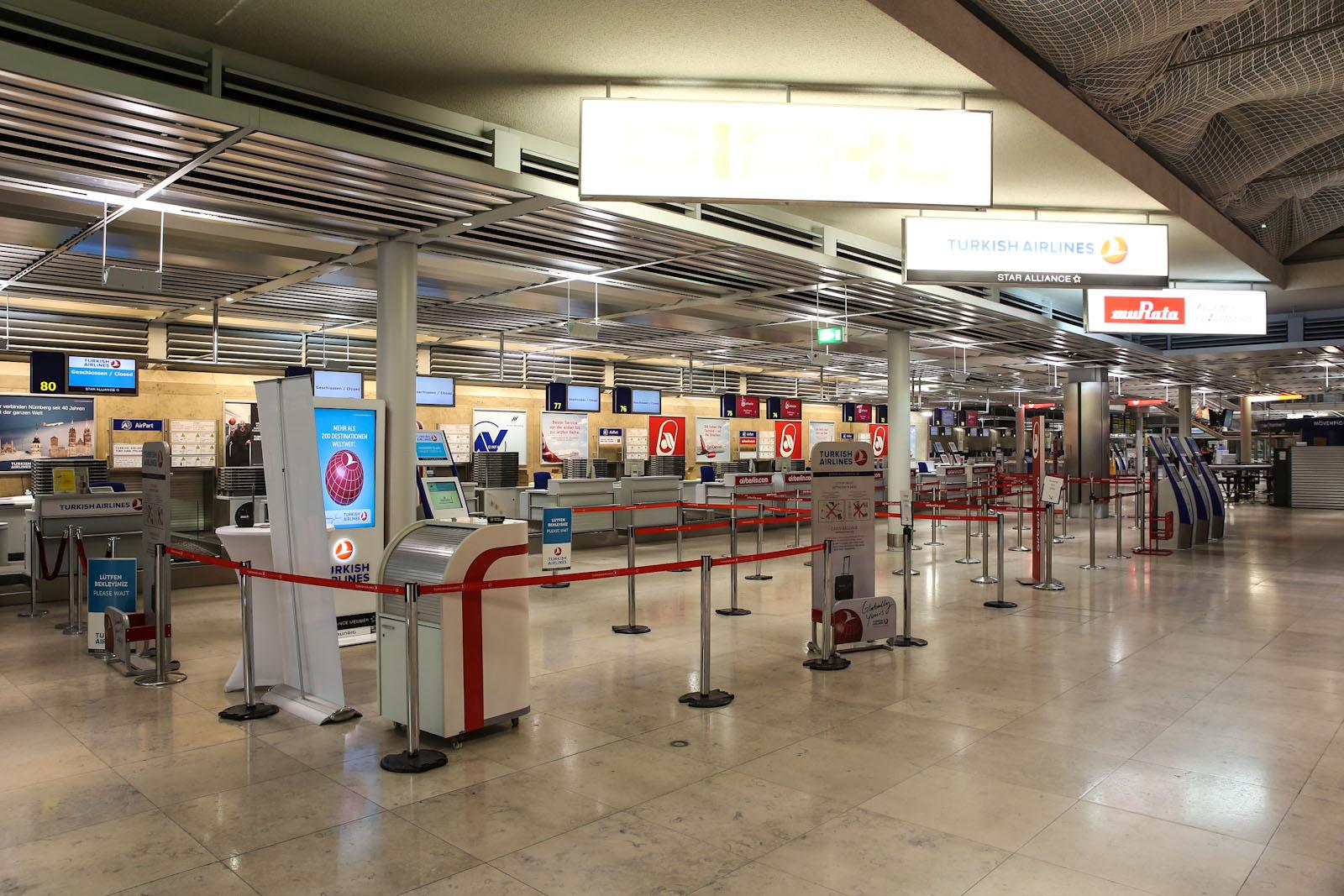 Стойки регистрации в аэропорту Нюрнберг