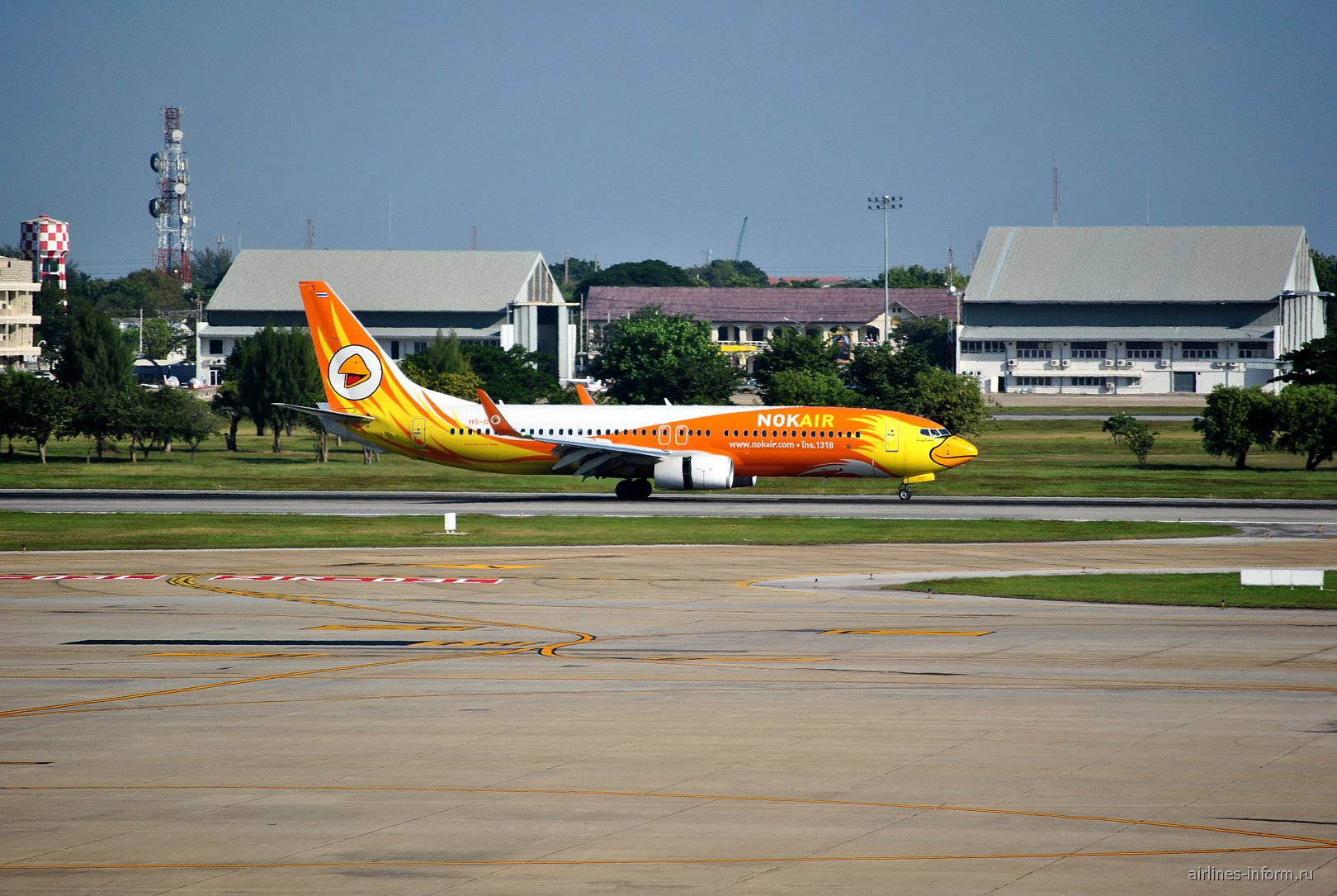 Боинг-737-800 авиакомпании Nok Air в аэропорту Бангкок Дон Муанг