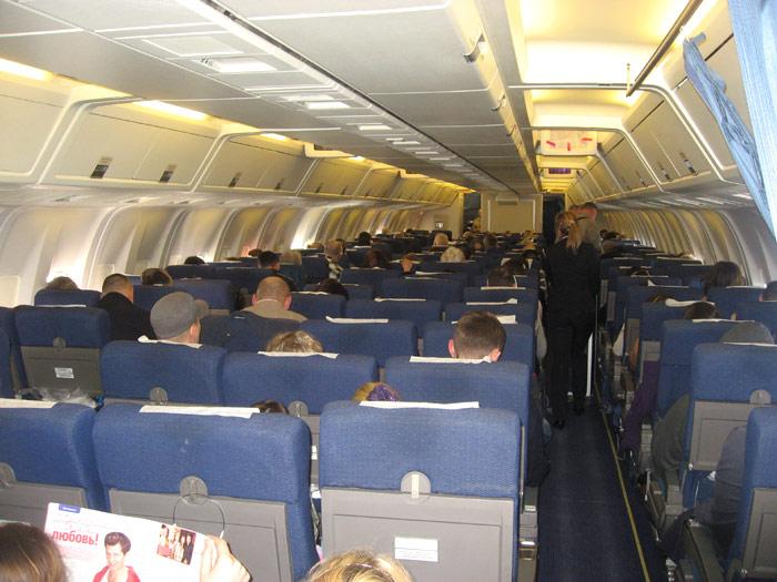 Экономический класс Боинга-767-300 авиакомпании Аэросвит
