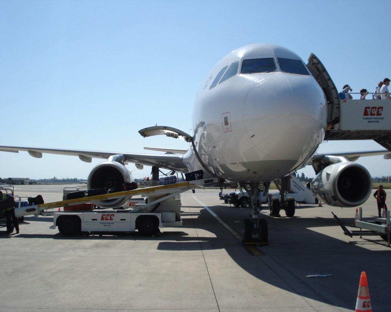 A320 Турецких авиалиний в аэропорту Адана