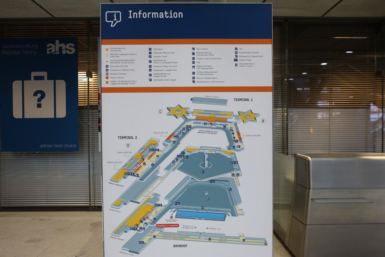 Схема терминалов аэропорта Кёльн/Бонн