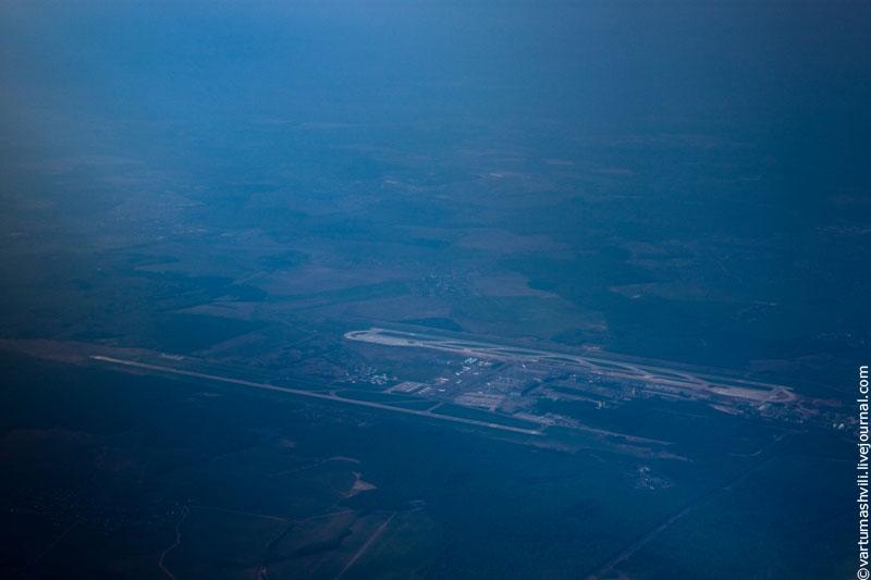 Вид сверху на аэропорт Домодедово