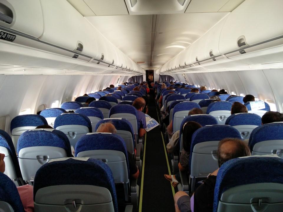 Салон самолета Боинг-737-700 Авиалиний Аргентины