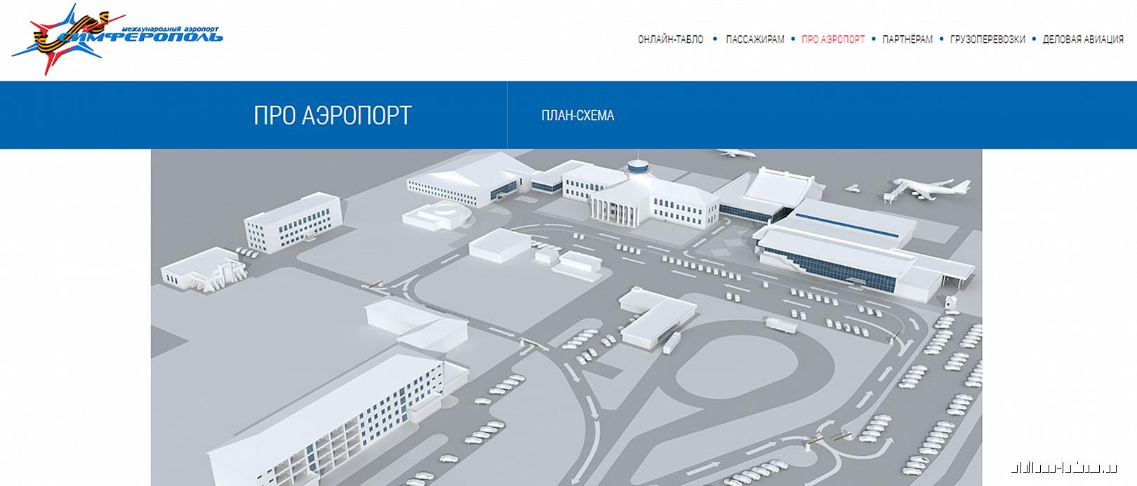 План аэропорта Симферополь