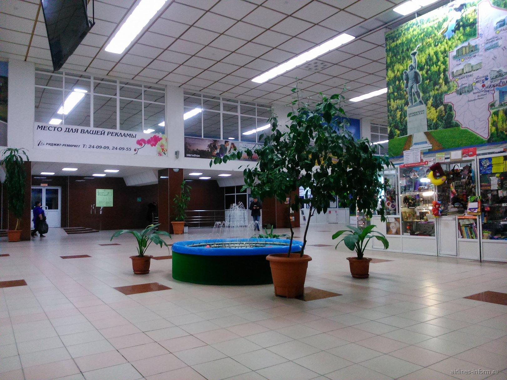 В аэровокзале аэропорта Нижневартовск