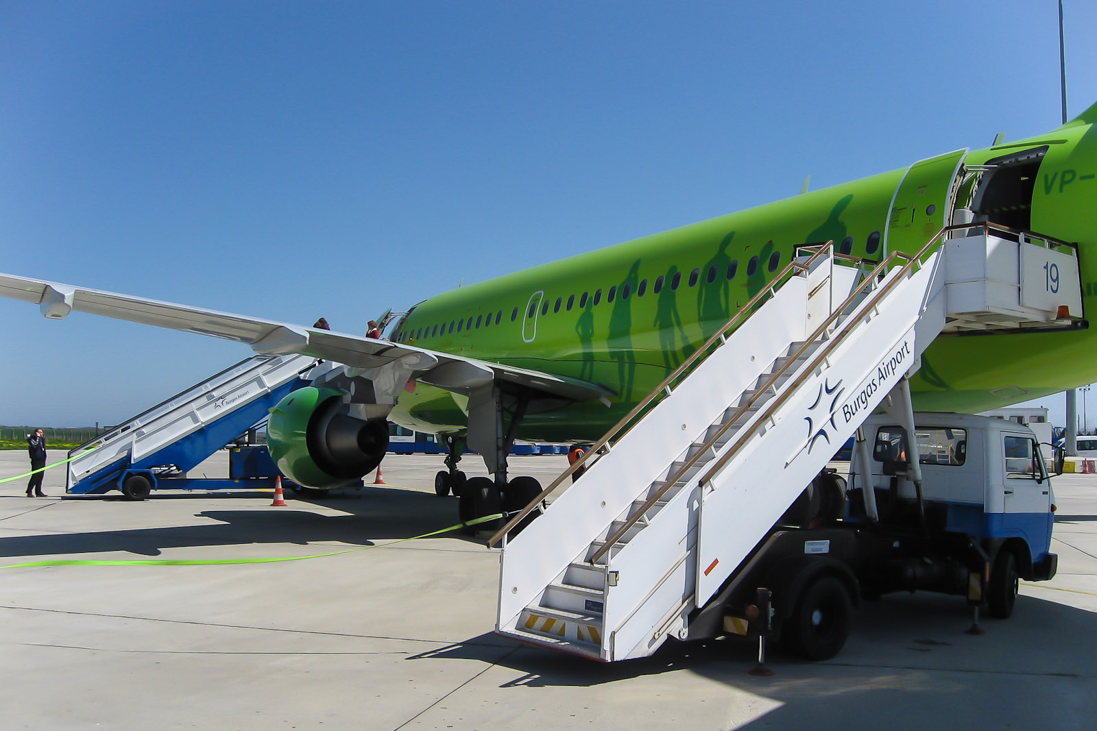 Airbus A319 S7 Airlines в аэропорту Бургаса