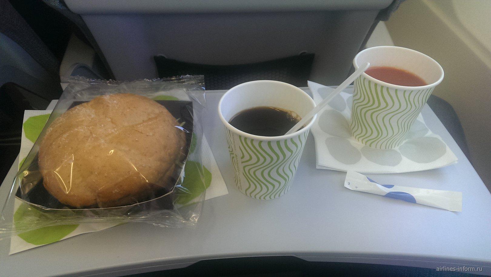 Питание на рейсе Finnair Москва-Хельсинки