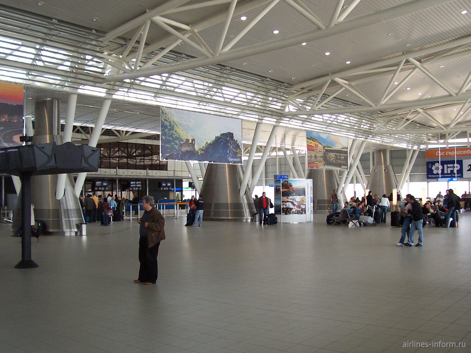 Аэропорт София Враждебна. Терминал 2. Вид изнутри.