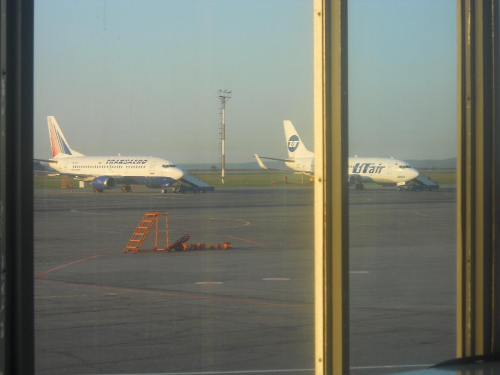 На перроне аэропорта Курумоч в Самаре
