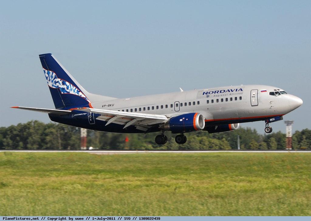 Самолет Боинг-737-500 авиакомпании Нордавиа